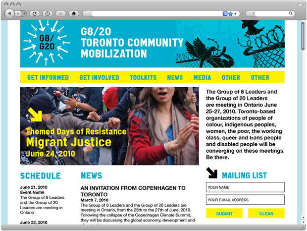 Toronto Community Mobilization Network — Website